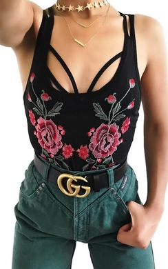 Hope Mesh Embroidered Bodysuit
