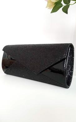 Verity Sequin Contrast Clutch Bag