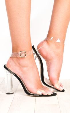 Alyssa Clear Perspex High Heels