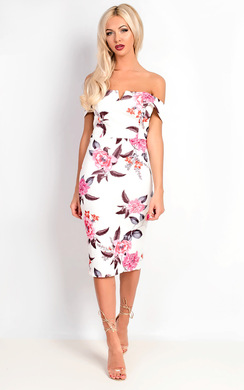 Verna Bardot Floral Midi Dress