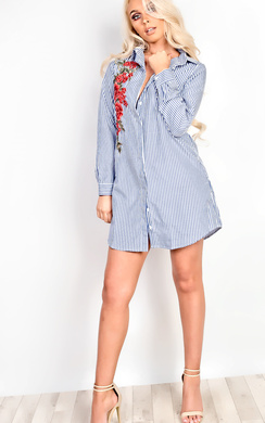 Isdale Embroidered Shirt Dress