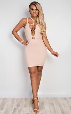 Pacale Choker Neck Bodycon Dress