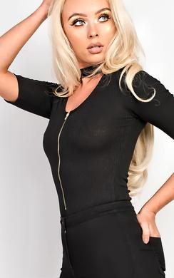 Remi Choker Ribbed Bodysuit