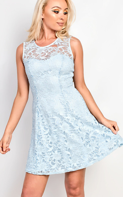Asher Lace Sequin Skater Dress