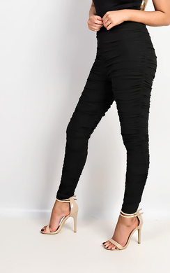 Kimmie Mesh Ruched Leggings