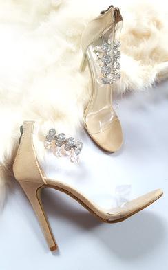 Jessi Jewelled Clear Strap Heels