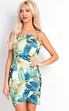Renee Strappy Tropical Floral Dress