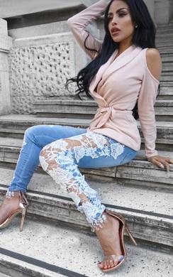 Luxy Skinny Lace Jeans