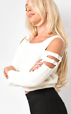 Ambrosia Cropped Cut Out Jumper