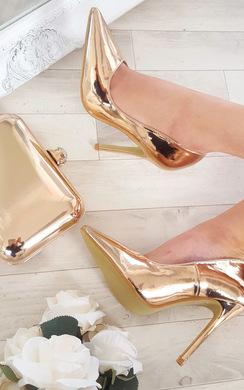 Celin Chrome Court Heels