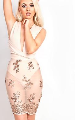 Mayra Sequin Bodycon Dress