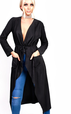 Anna Suede Waterfall Coat