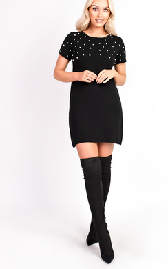 Emmi Short Sleeve Embellished Mini Dress