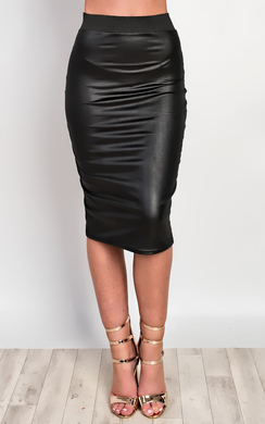 Camilla Faux Leather Skirt