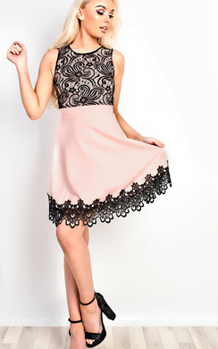 Shaunia Lace Skater Dress