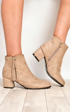 Leanna Faux Suede Ankle Boots