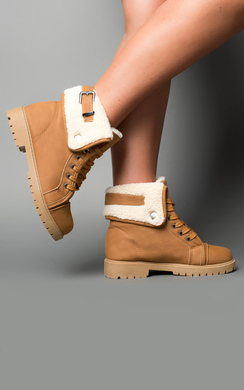 Halley Faux Shearling Boots