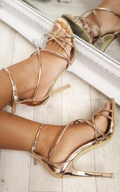 Annabelle Chrome High Heels