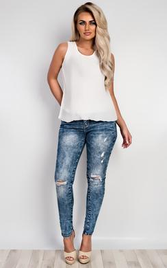 Trish Lace Back Chiffon Vest Top