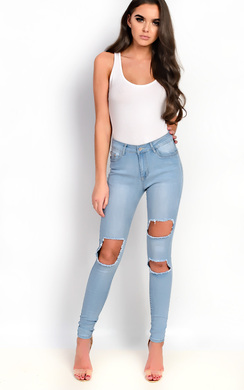 Raini Skinny Ripped Distressed Jeans