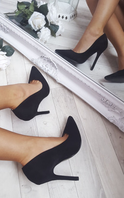 Holly Faux Suede Court Heels