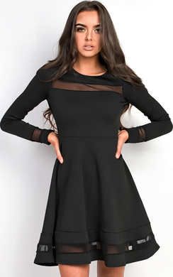 Sally High Neck Skater Dress