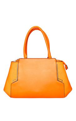 Zizzi Orange Faux Leather Tote Bag