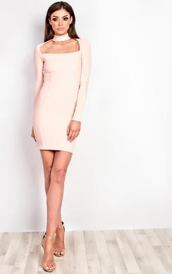 Ravenna Choker Neck Bodycon Dress