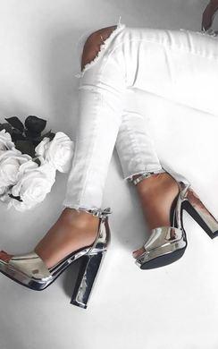 Joselyn Chrome Platform Heels