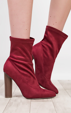 Naomi Faux Suede Heeled Boots