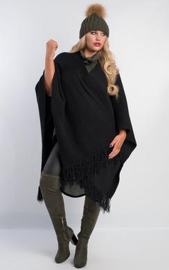 Rowli Chunky Knit Cape