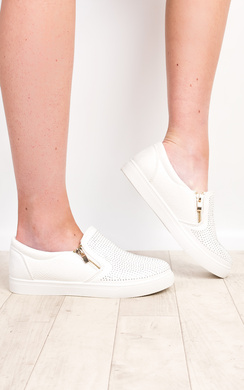 Lila Diamante Slip On Shoes