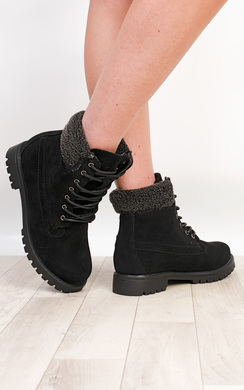 Adriana Faux Suede Hi-Top Boots