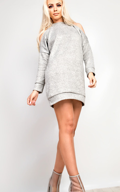 Calan Cold Shoulder Jumper Dress
