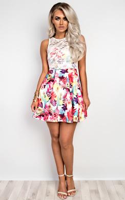 Marley Lace & Floral Skater Dress