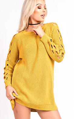 Skye Knitted Cut Out Jumper