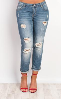 Delisa Ripped Denim Jeans