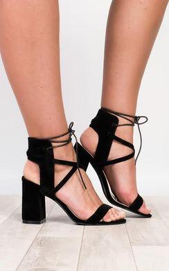 Elizabella Strappy Block Heels