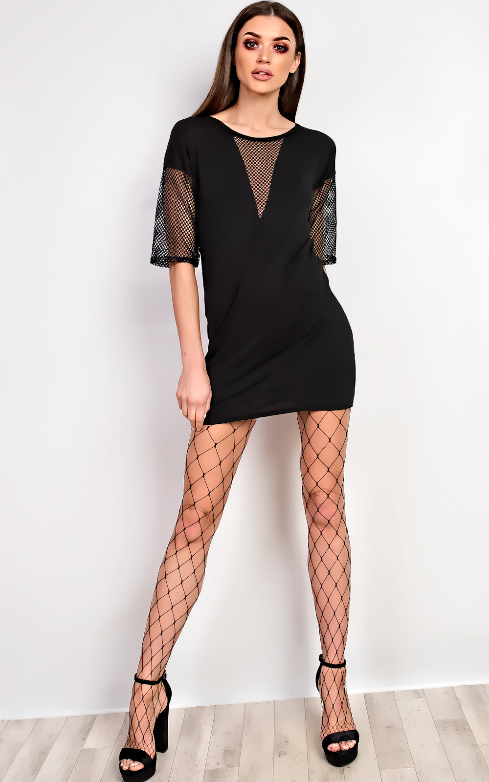 Black t shirt dress ebay - Ikrush Balay Net Detail T Shirt Dress