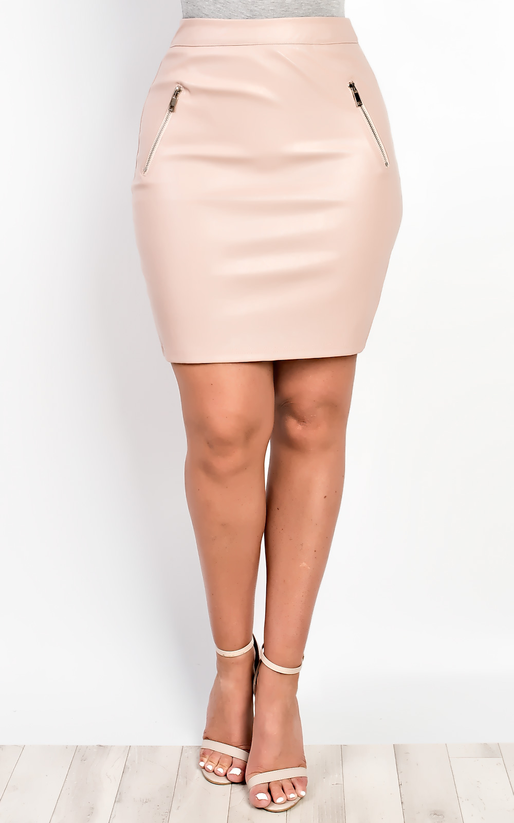 iKrush Aanya Faux Leather Skirt