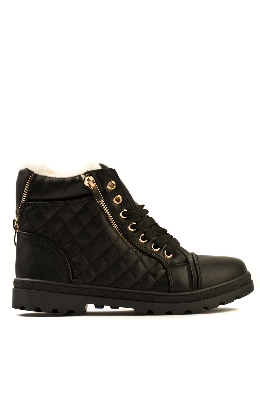 iKrush Ellie Quilted Fur Lined Boots