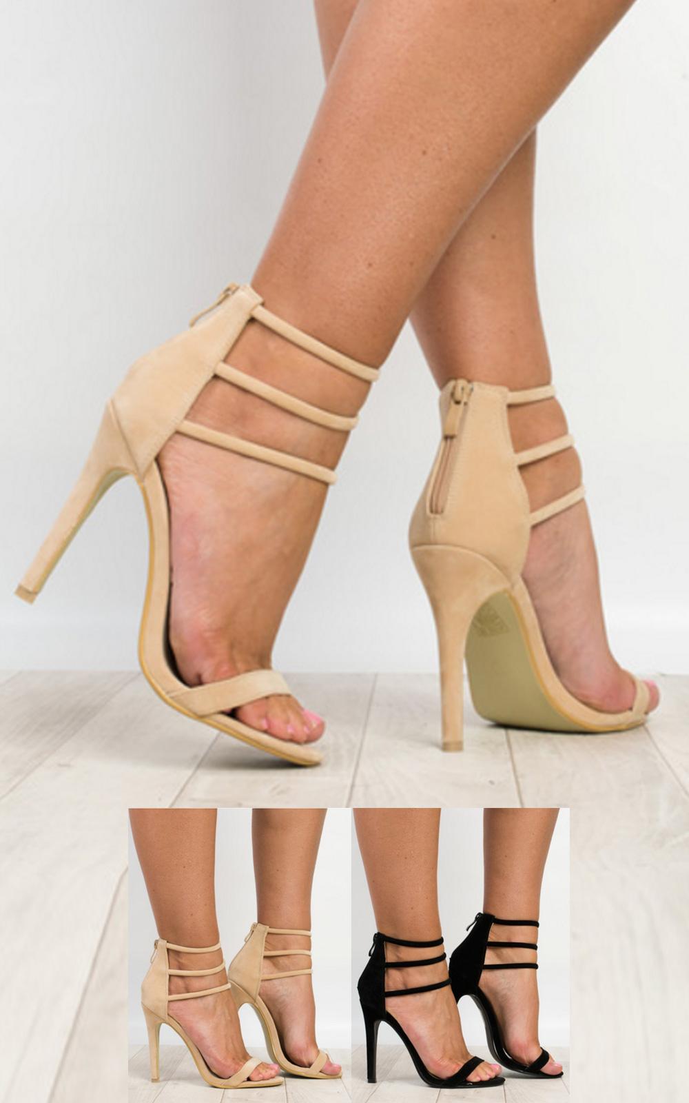 women 39 s ladies stunning strappy glam celeb party high heels ebay. Black Bedroom Furniture Sets. Home Design Ideas