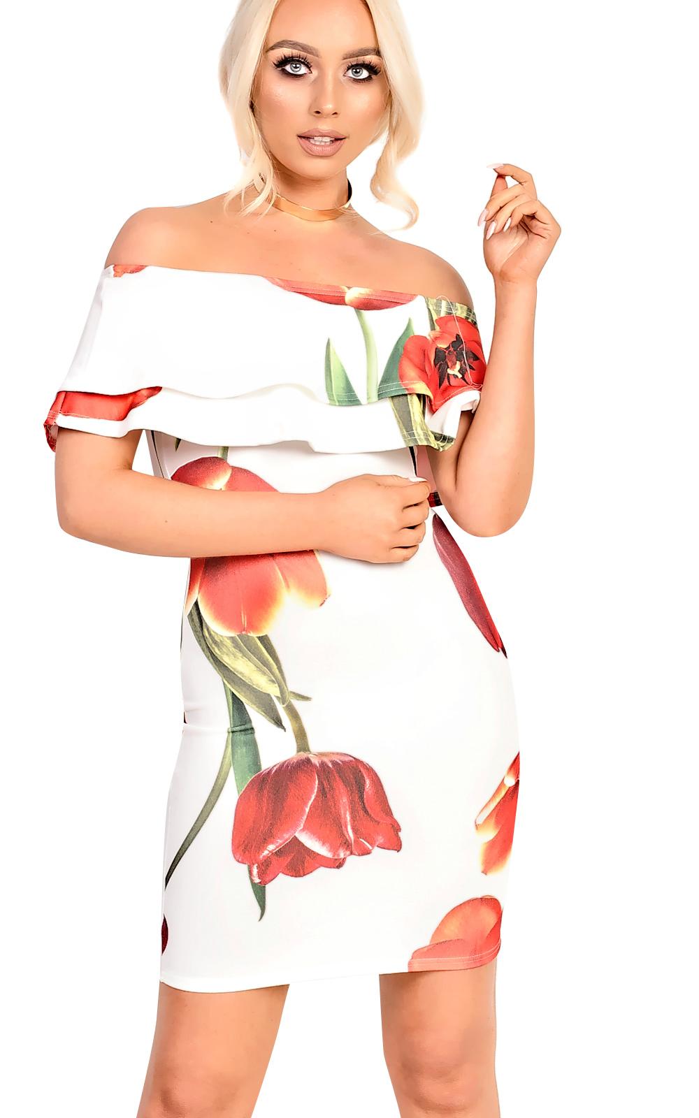 IKRUSH-Womens-Natasha-Bardot-Floral-Dress
