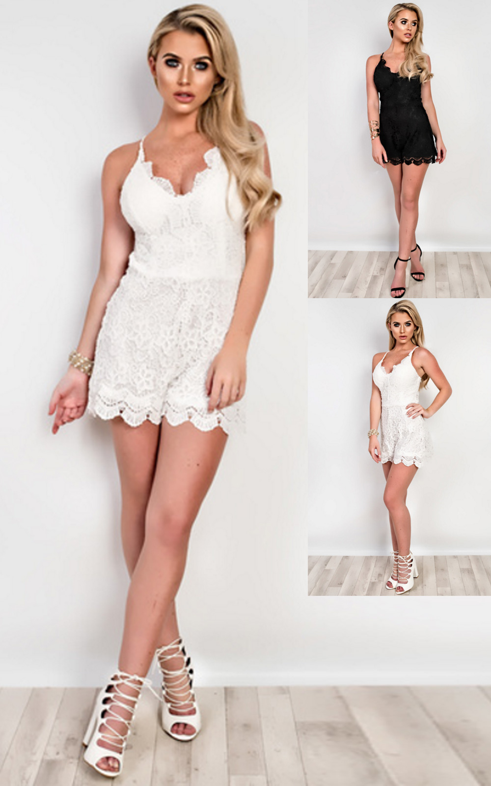 iKrush Stacie Lace Playsuit