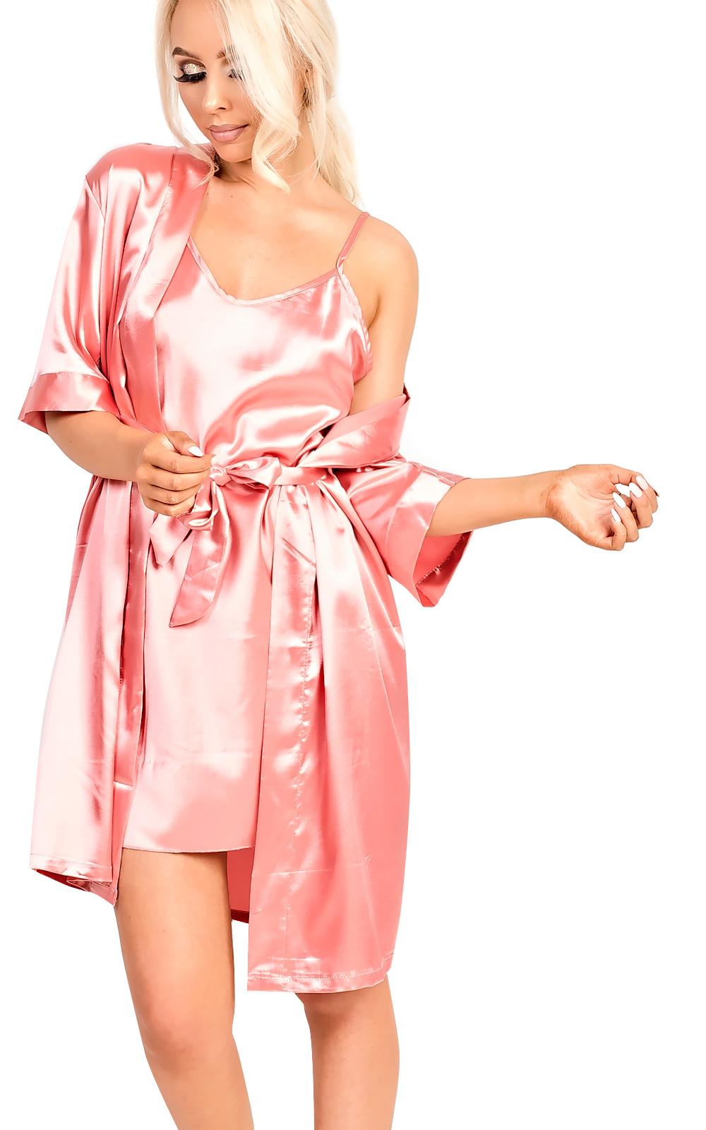 IKRUSH-Womens-Briah-Satin-Dressing-Gown-Cami-Set-L-XL