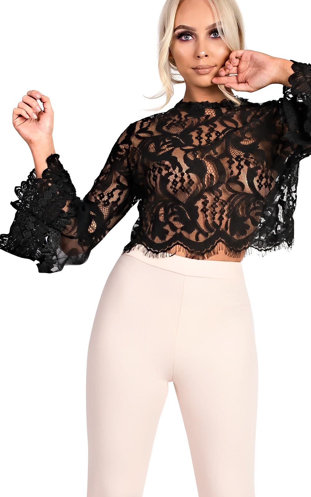 IKRUSH-Womens-Rosie-Crochet-Flare-Sleeve-Top