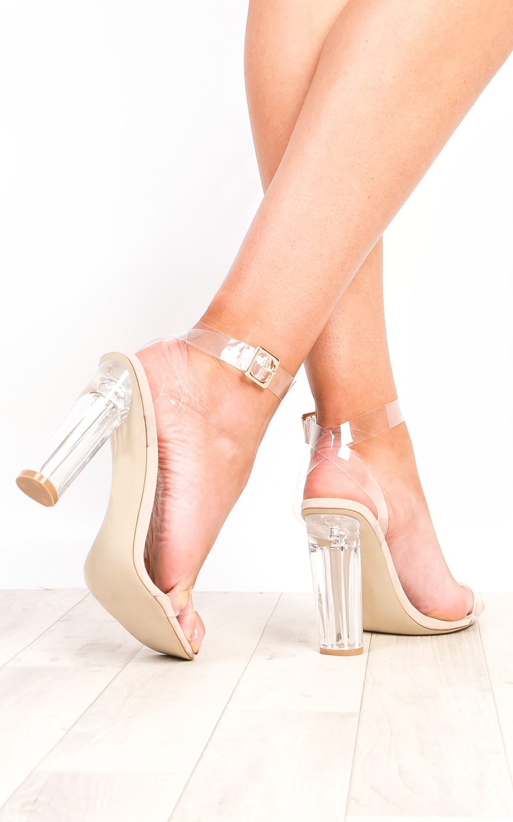 Shoes iKrush Alyssa Clear Perspex High Heels