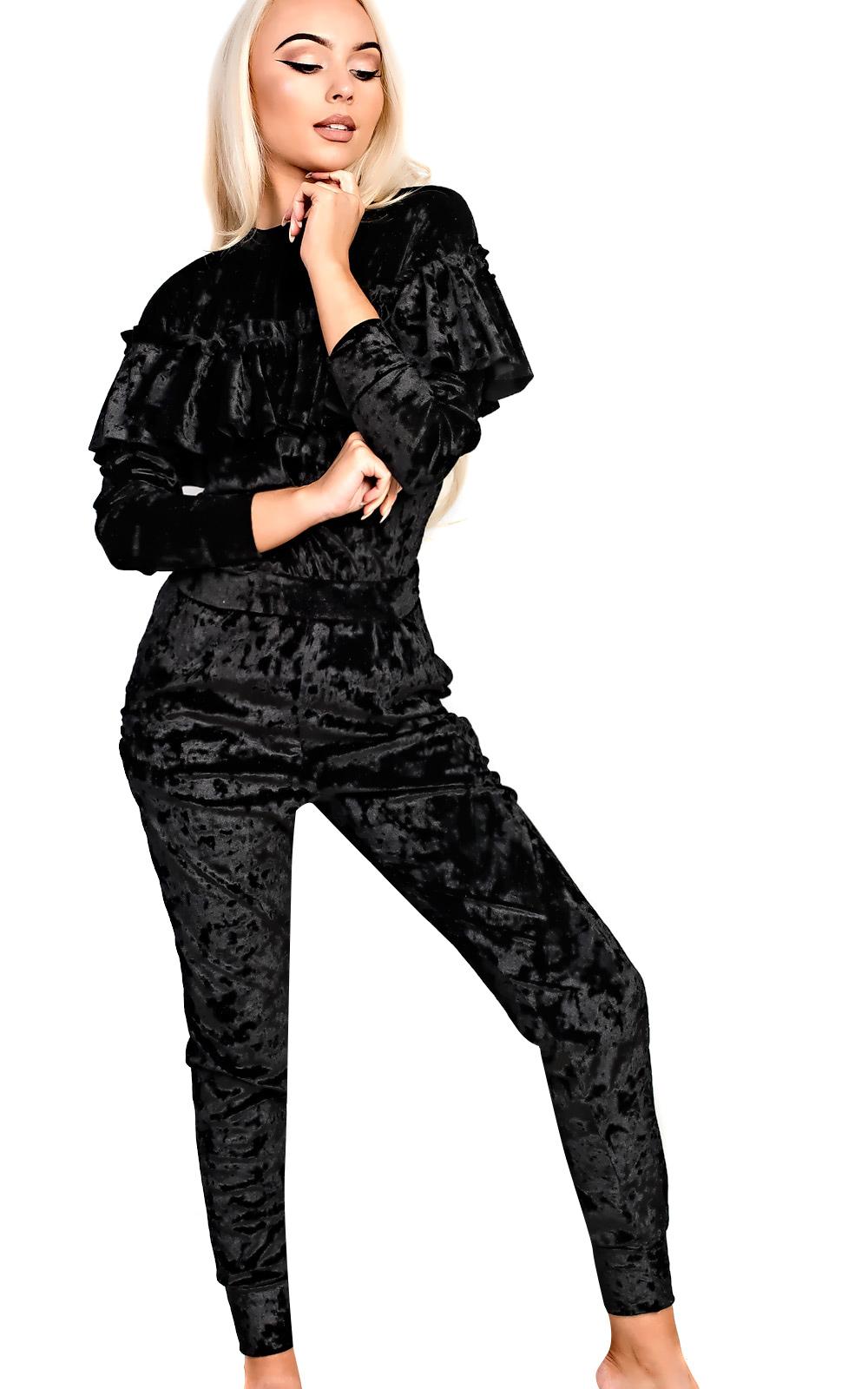 Unique Womens Ladies Two Piece Loungewear Set Hooded Crop Sweatshirt Joggers Tracksuit | EBay