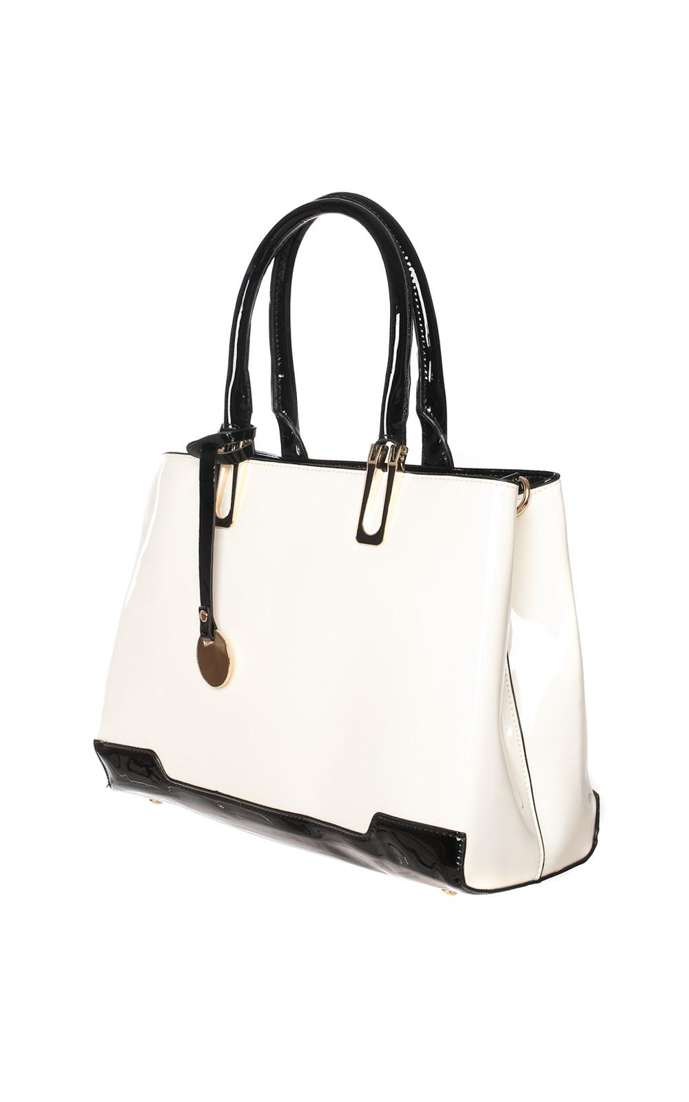 iKrush Sheridan White Patent Handbag
