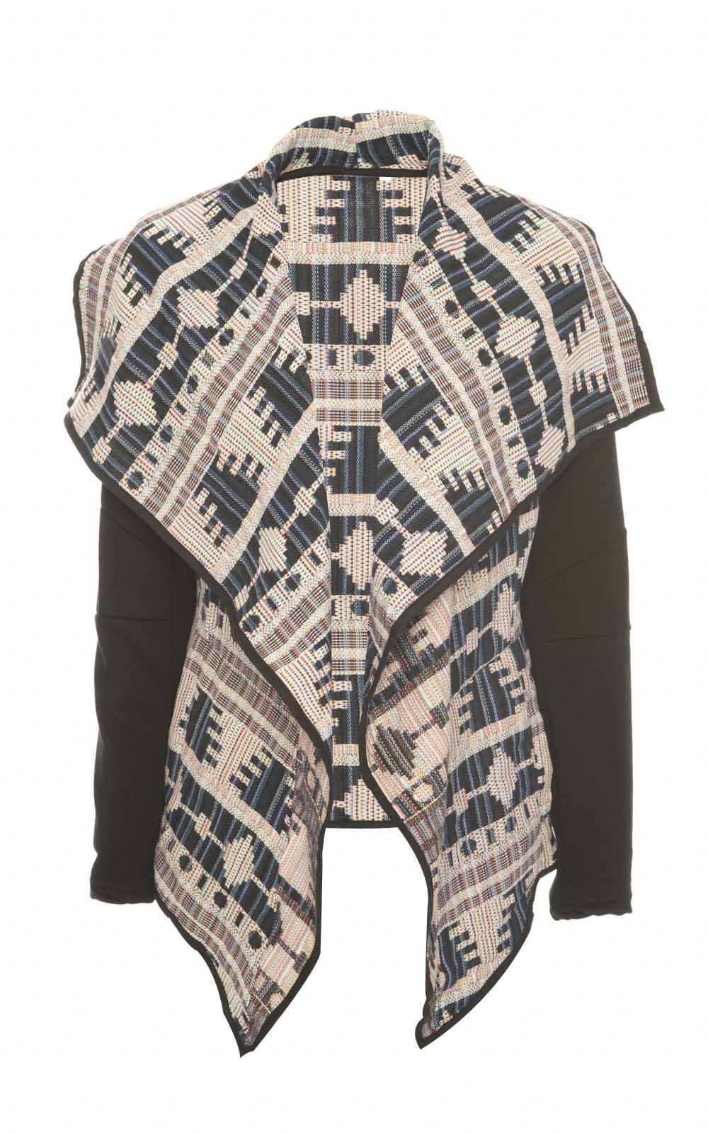 Women's Outerwear iKrush Julie Multi Coloured Aztec Waterfall Jacket